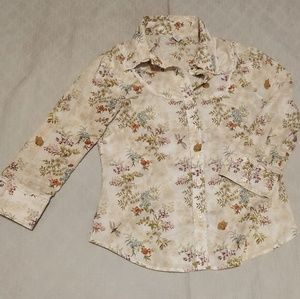 Anthropologie Odile Western Style Button Down